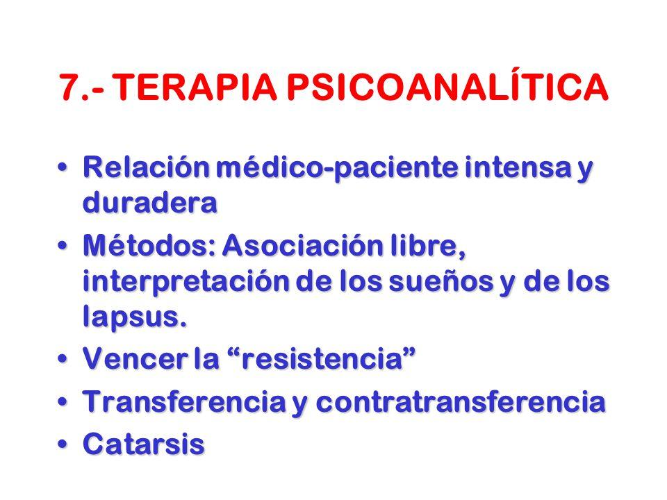 7.- TERAPIA PSICOANALÍTICA