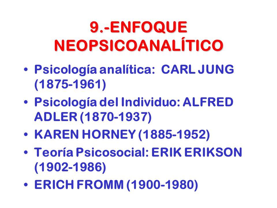 9.-ENFOQUE NEOPSICOANALÍTICO