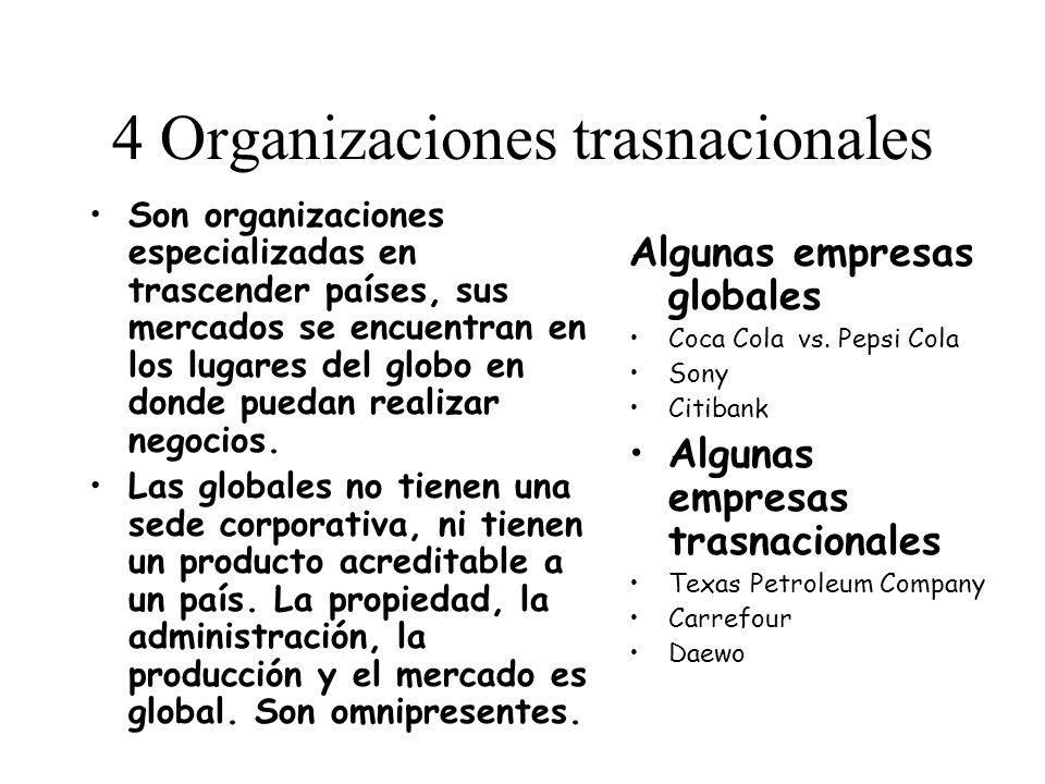 4 Organizaciones trasnacionales