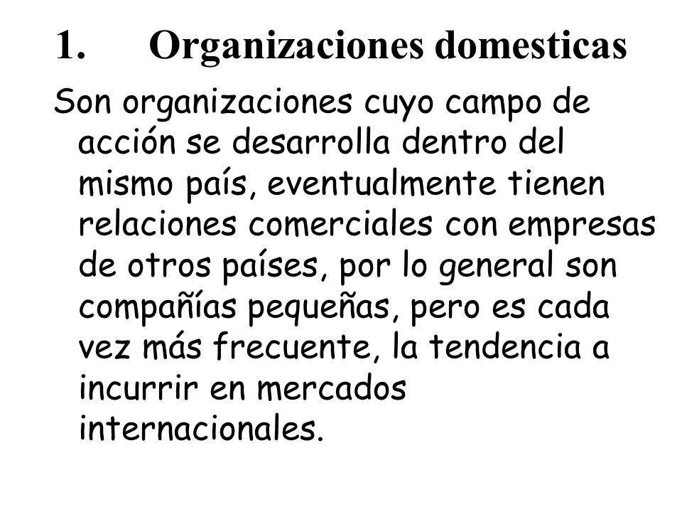 1. Organizaciones domesticas