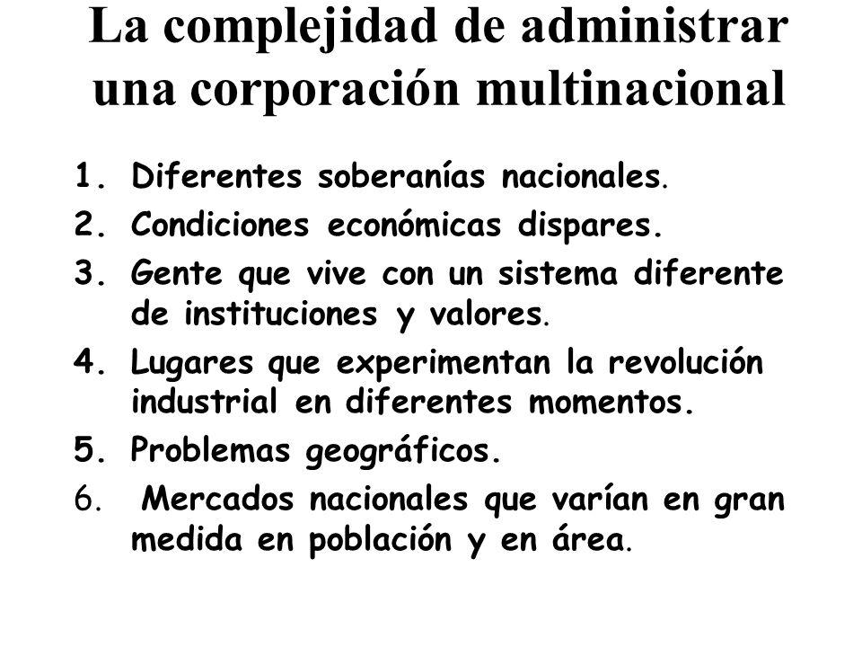 La complejidad de administrar una corporación multinacional