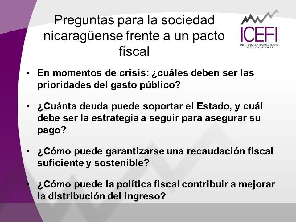 Preguntas para la sociedad nicaragüense frente a un pacto fiscal
