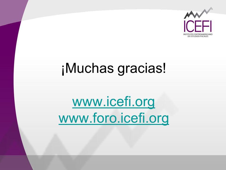 ¡Muchas gracias! www.icefi.org www.foro.icefi.org