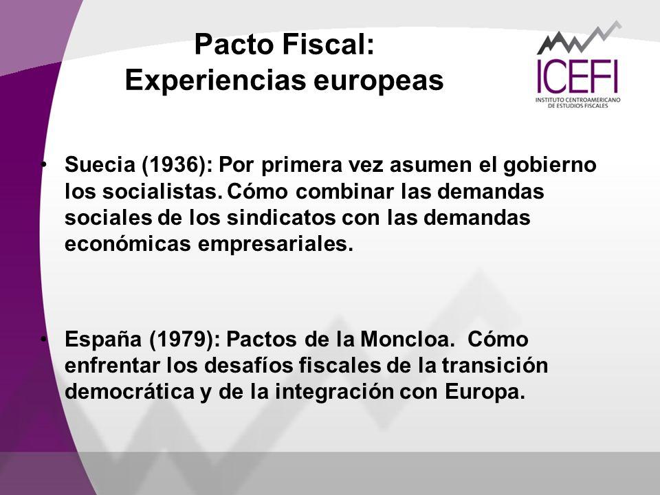 Pacto Fiscal: Experiencias europeas