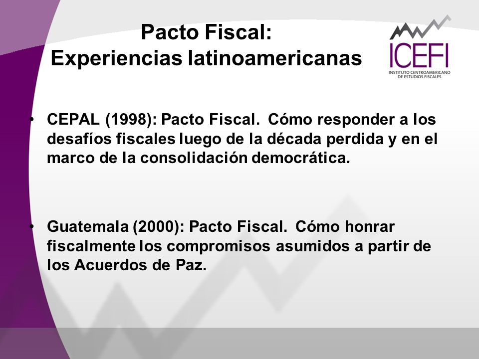 Pacto Fiscal: Experiencias latinoamericanas
