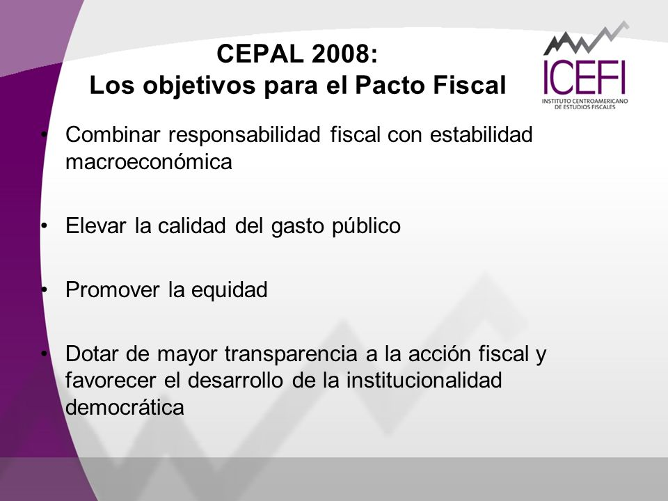 CEPAL 2008: Los objetivos para el Pacto Fiscal