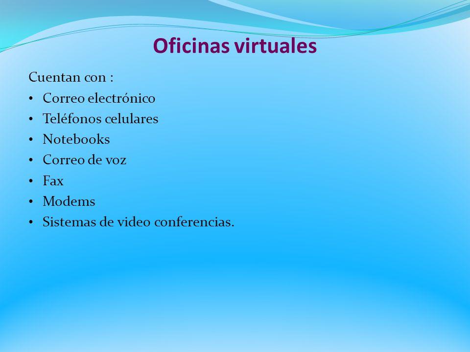 Oficinas virtuales Cuentan con : Correo electrónico