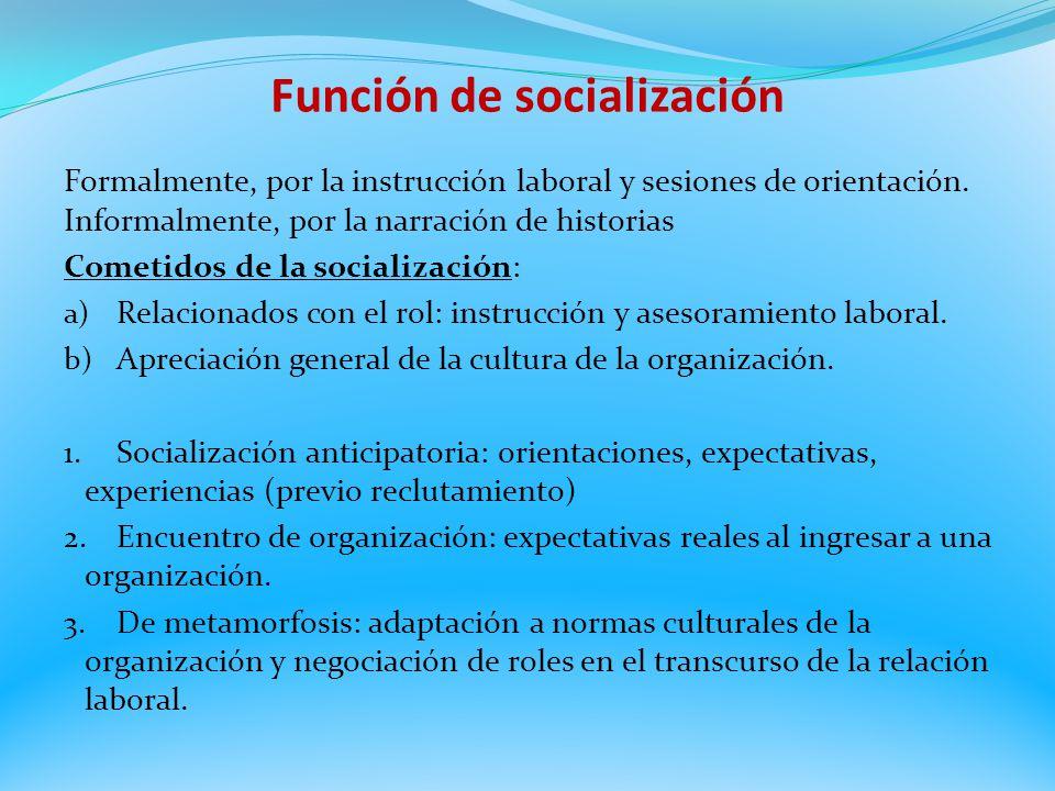 Función de socialización