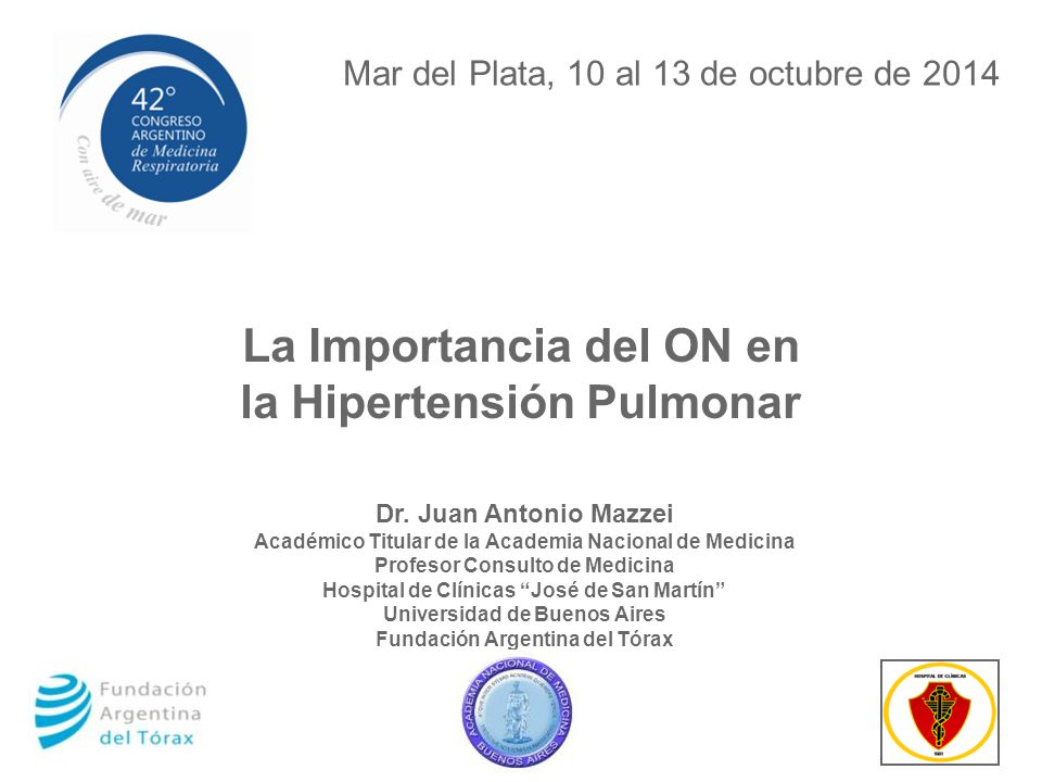 La Importancia del ON en la Hipertensión Pulmonar