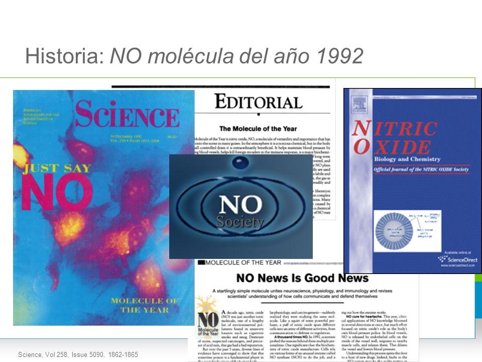 Historia: NO molécula del año 1992