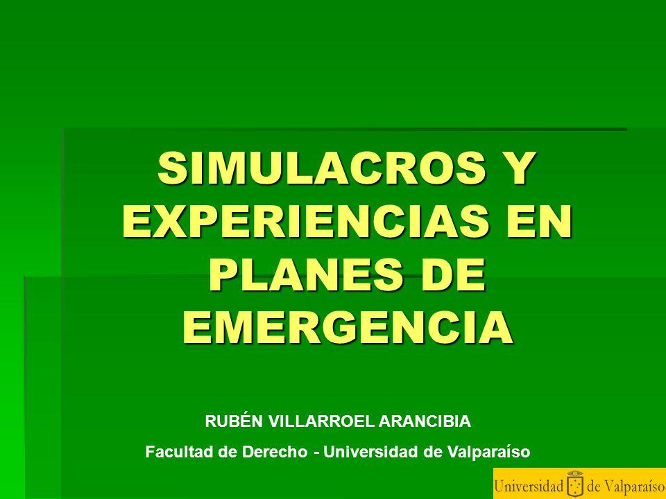 SIMULACROS Y EXPERIENCIAS EN PLANES DE EMERGENCIA