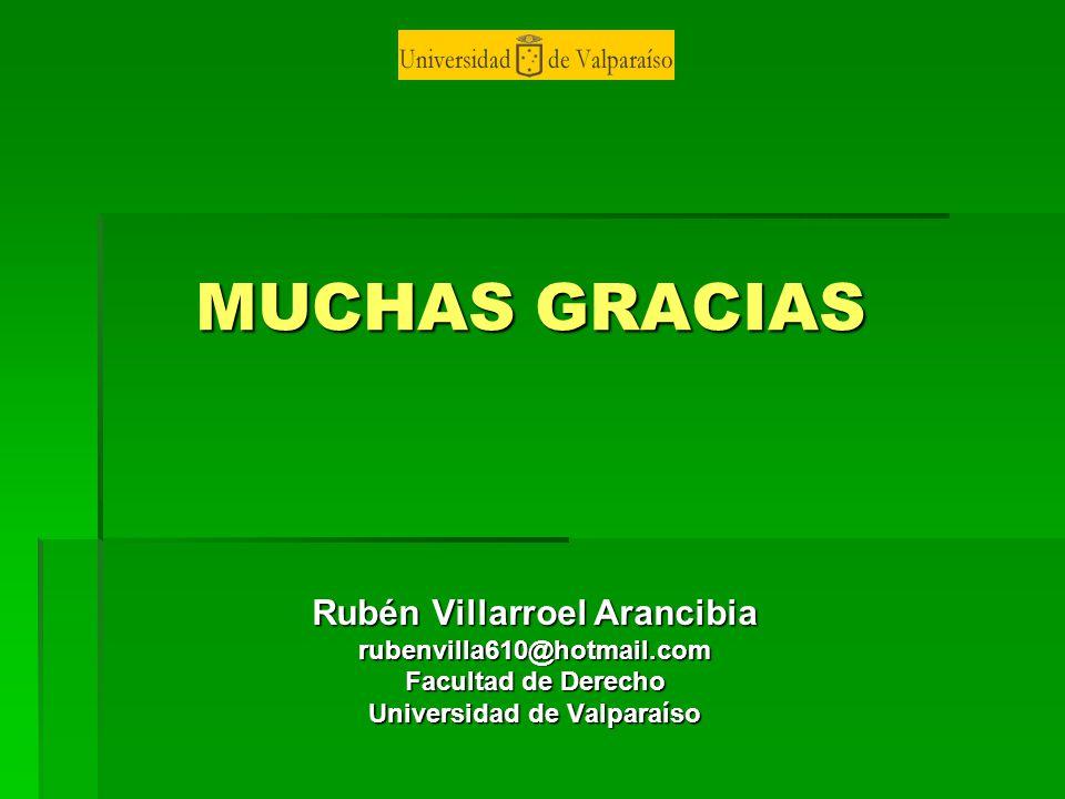 Rubén Villarroel Arancibia Universidad de Valparaíso