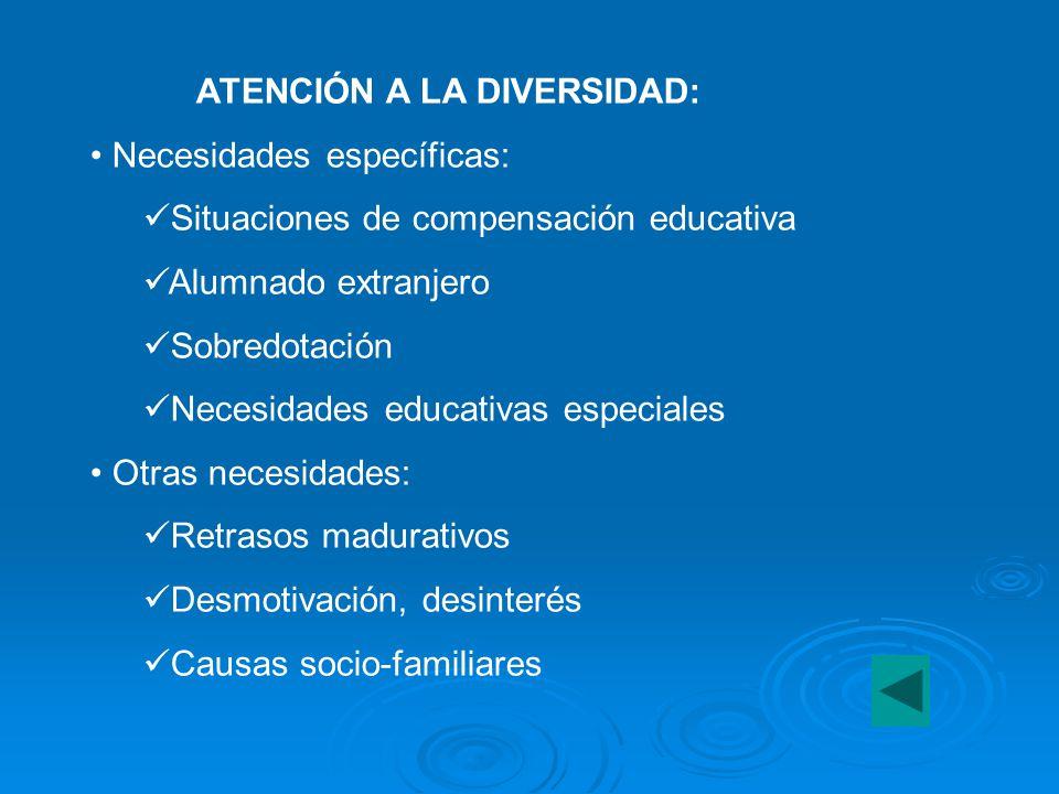 ATENCIÓN A LA DIVERSIDAD:
