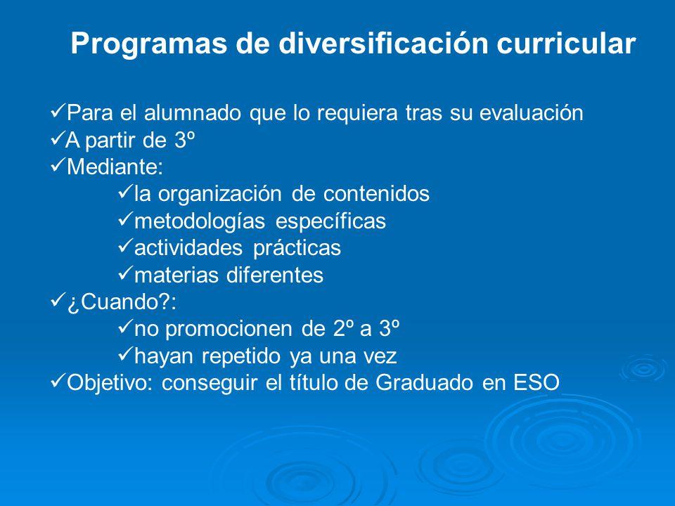 Programas de diversificación curricular