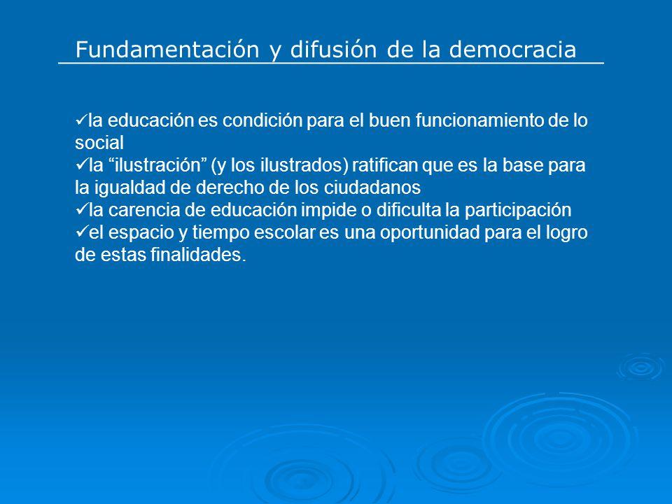 Fundamentación y difusión de la democracia
