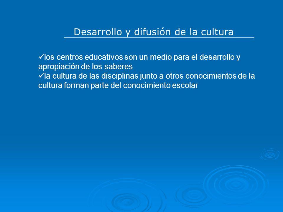 Desarrollo y difusión de la cultura