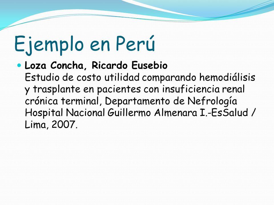 Ejemplo en Perú