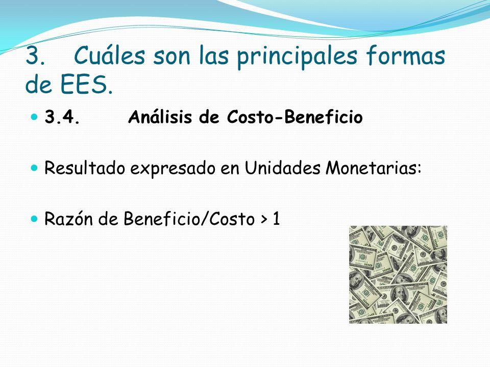 3. Cuáles son las principales formas de EES.