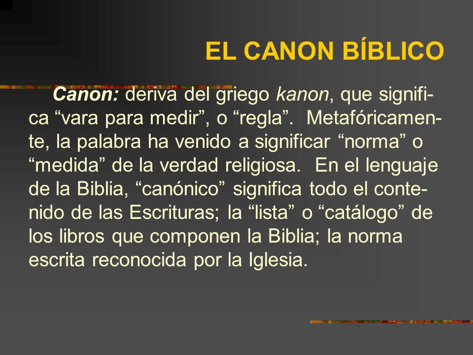 EL CANON BÍBLICO.