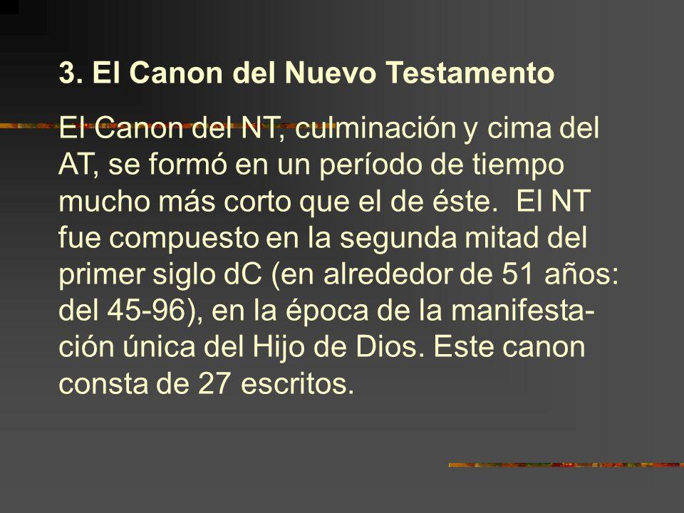 3. El Canon del Nuevo Testamento