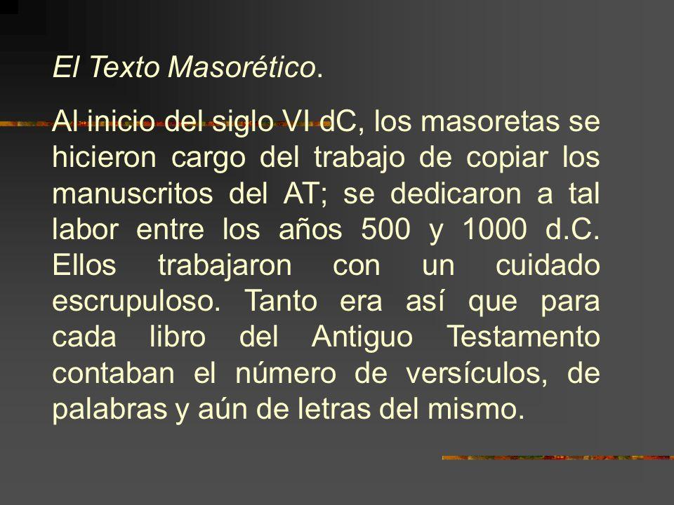 El Texto Masorético.