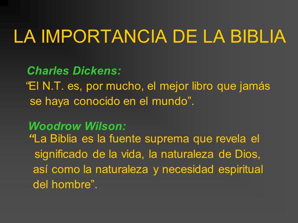 LA IMPORTANCIA DE LA BIBLIA