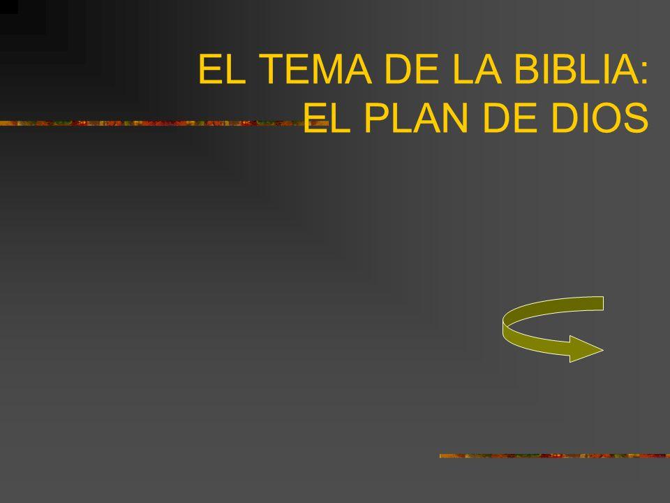 EL TEMA DE LA BIBLIA: EL PLAN DE DIOS