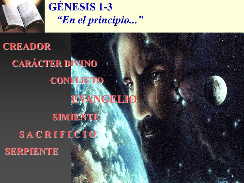 GÉNESIS 1-3 En el principio... CREADOR CARÁCTER DIVINO CONFLICTO