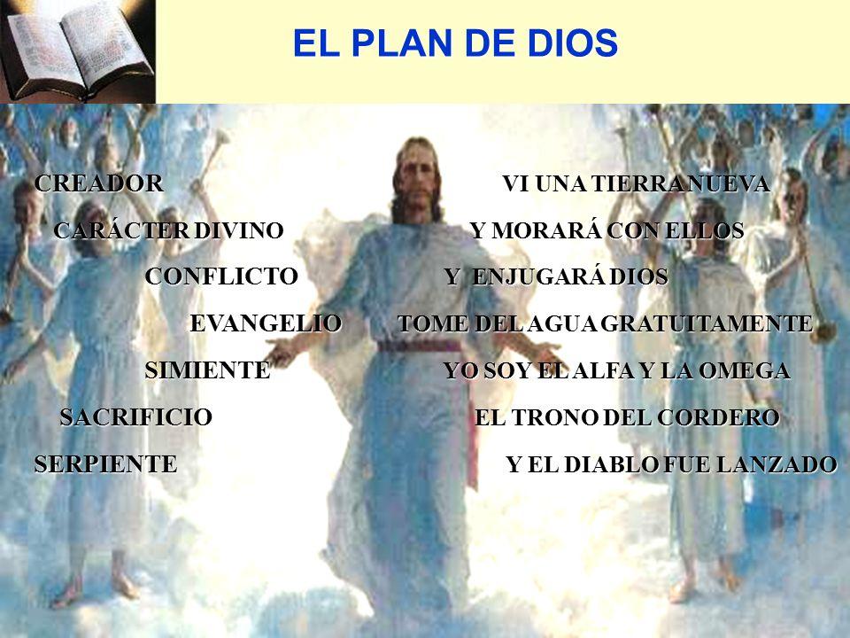 EL PLAN DE DIOS CREADOR VI UNA TIERRA NUEVA