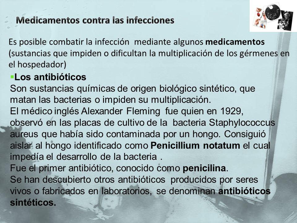 Medicamentos contra las infecciones