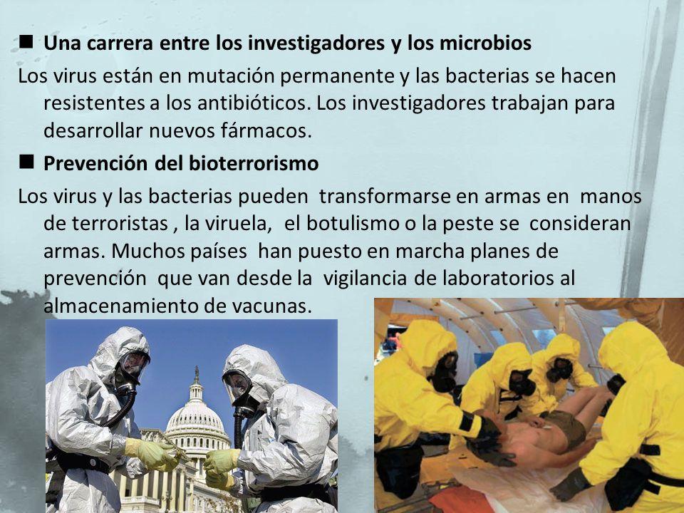 Una carrera entre los investigadores y los microbios
