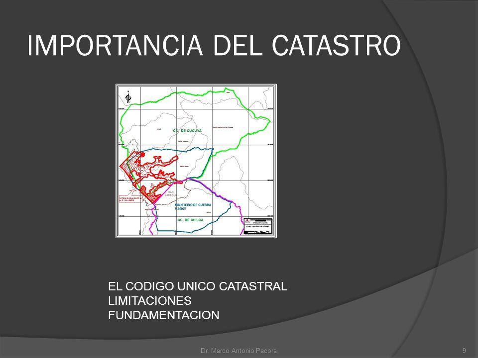 IMPORTANCIA DEL CATASTRO