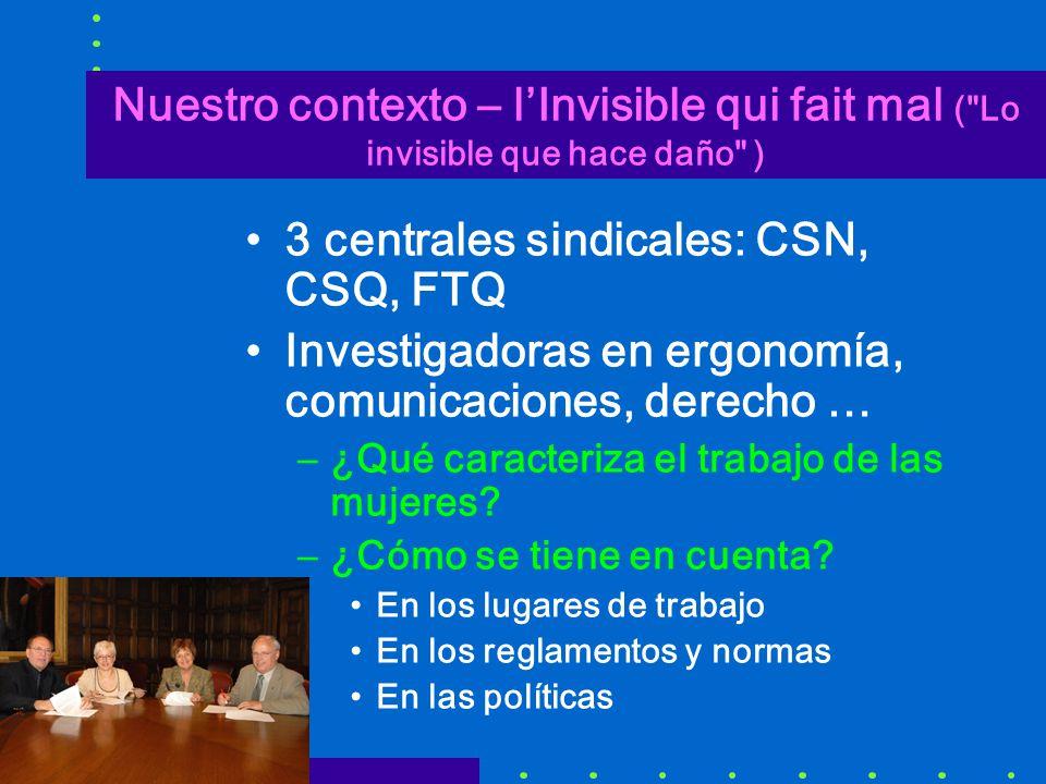 3 centrales sindicales: CSN, CSQ, FTQ