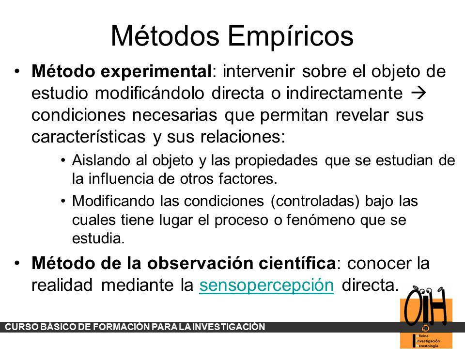 Métodos Empíricos