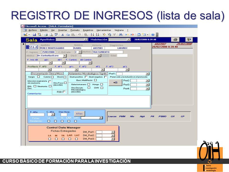 REGISTRO DE INGRESOS (lista de sala)