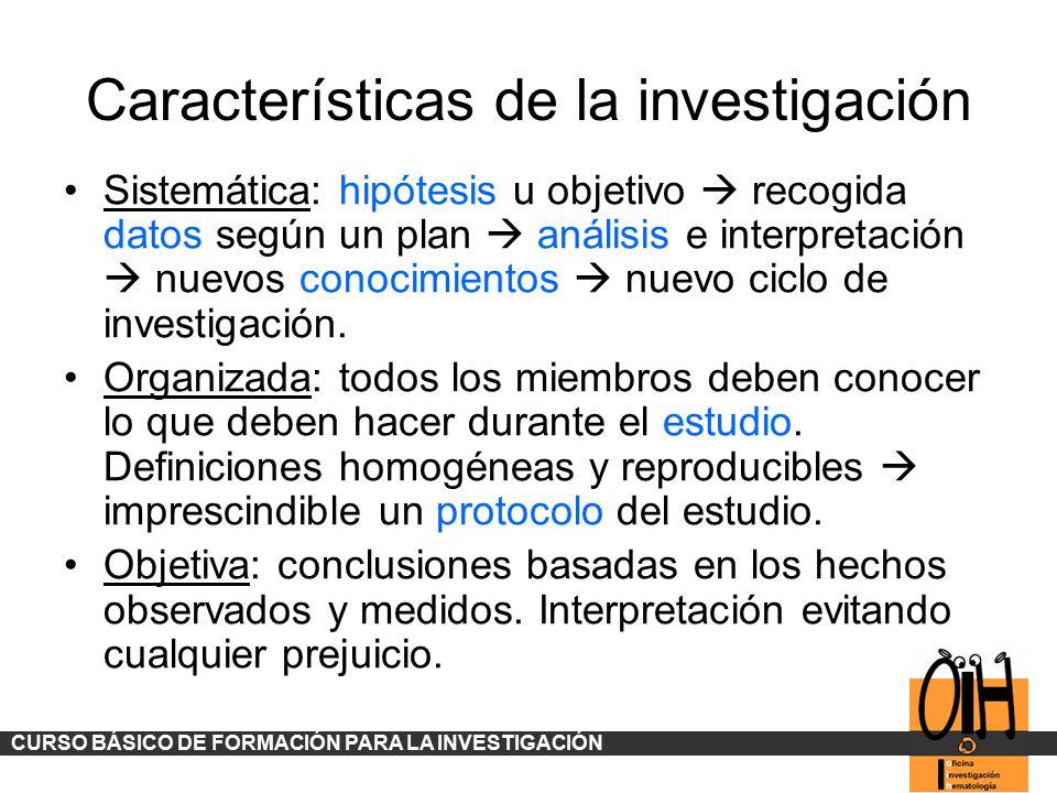 Características de la investigación