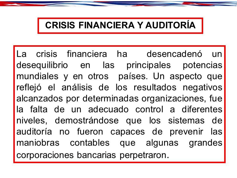 CRISIS FINANCIERA Y AUDITORÍA
