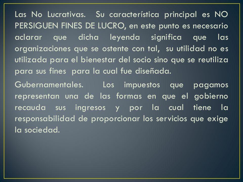 Las No Lucrativas.