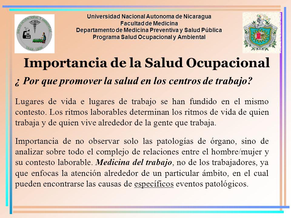 Importancia de la Salud Ocupacional