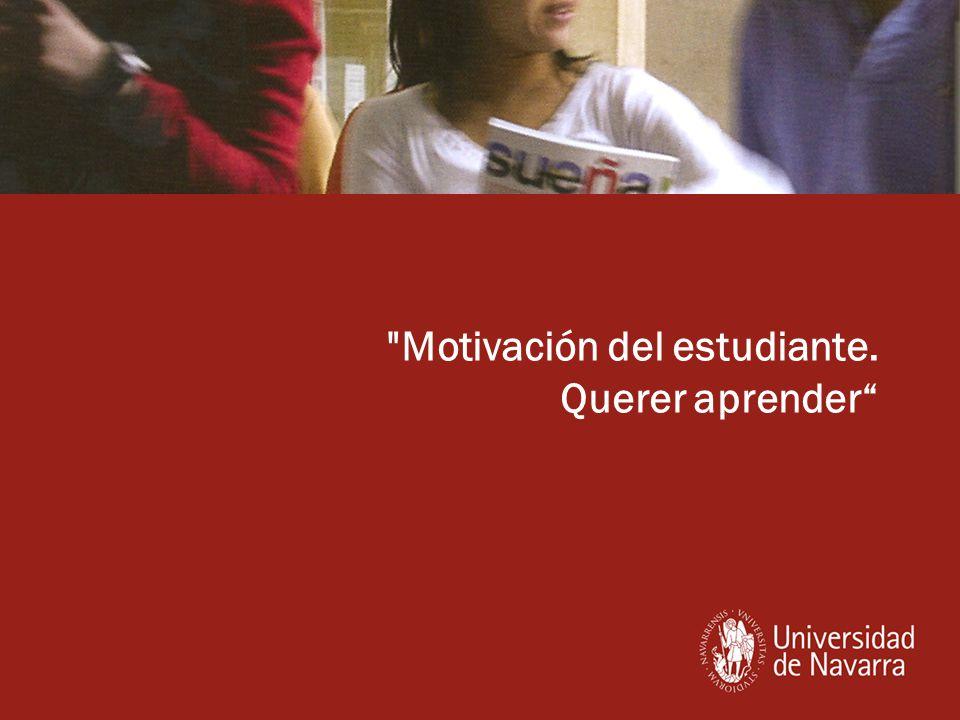 Motivación del estudiante. Querer aprender