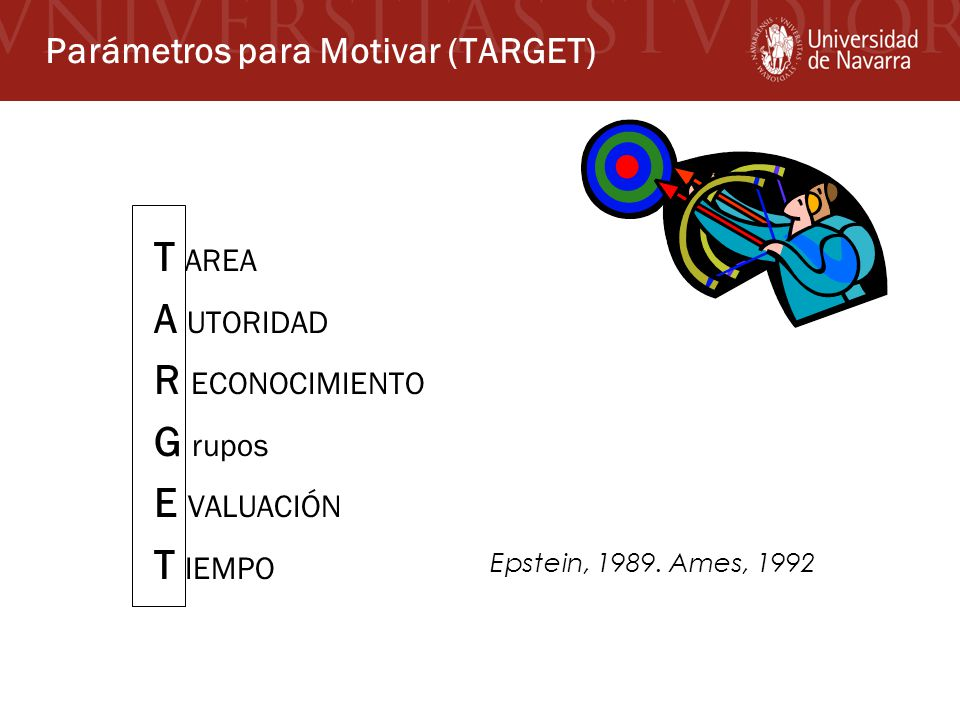 Parámetros para Motivar (TARGET)
