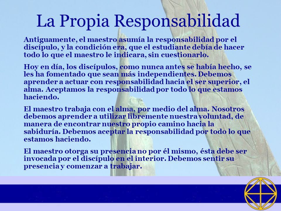 La Propia Responsabilidad