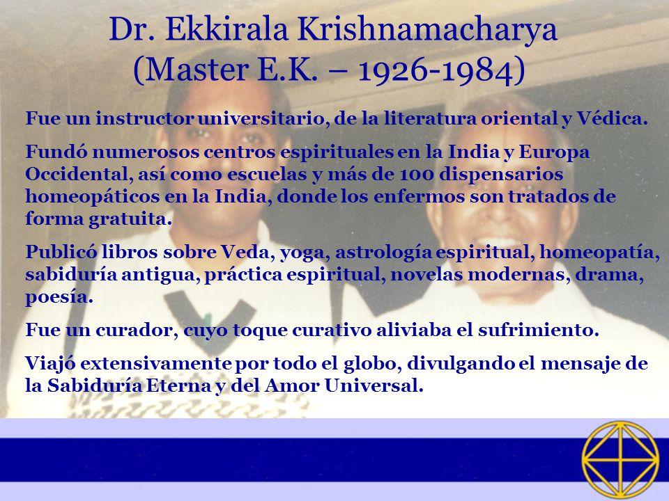 Dr. Ekkirala Krishnamacharya (Master E.K. – 1926-1984)