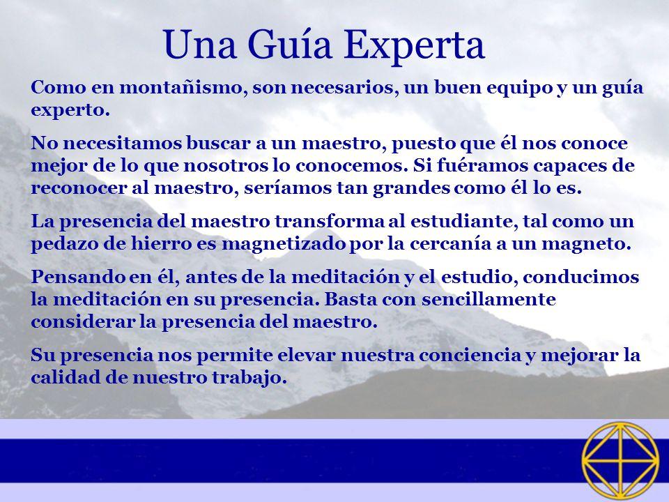 Una Guía Experta Como en montañismo, son necesarios, un buen equipo y un guía experto.