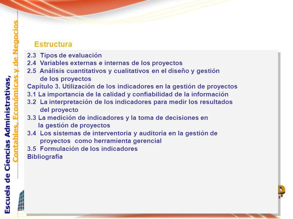 Estructura 2.3 Tipos de evaluación