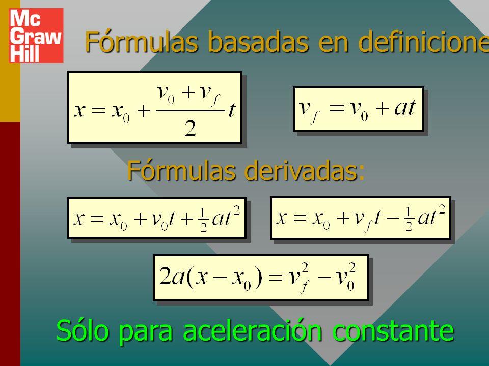 Fórmulas basadas en definiciones:
