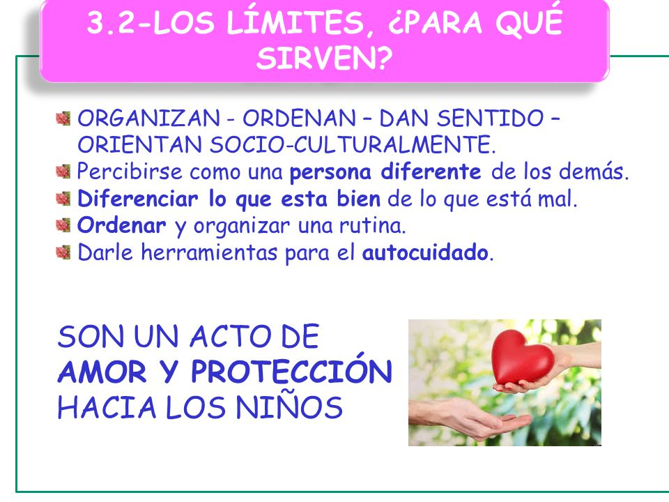 3.2-LOS LÍMITES, ¿PARA QUÉ SIRVEN