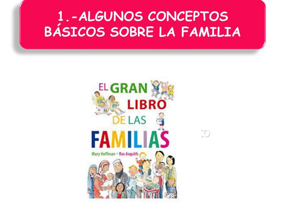 1.-ALGUNOS CONCEPTOS BÁSICOS SOBRE LA FAMILIA
