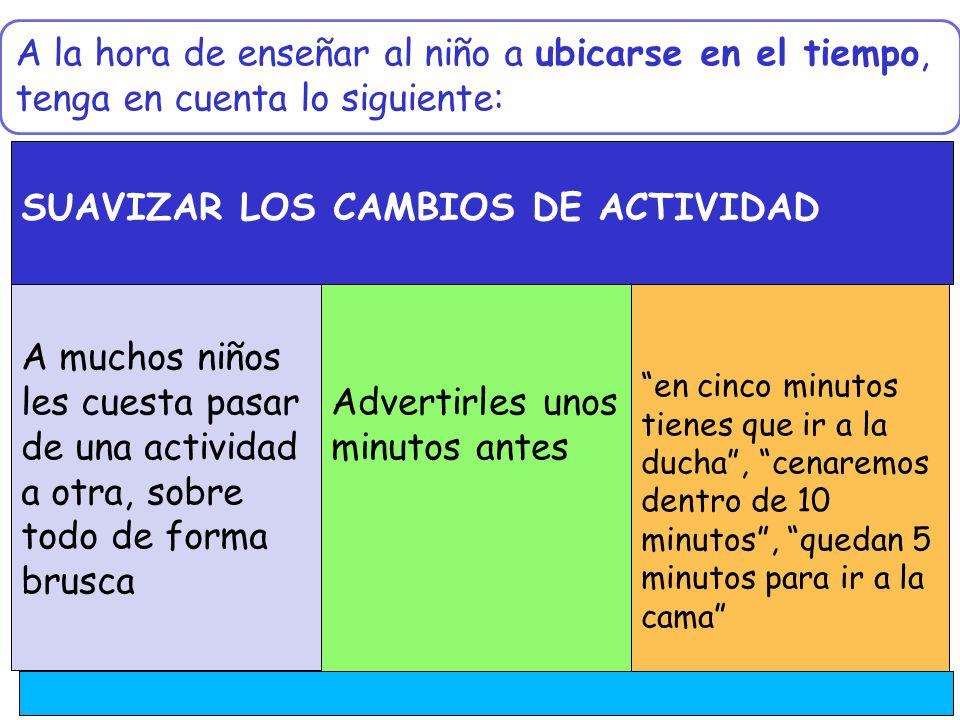SUAVIZAR LOS CAMBIOS DE ACTIVIDAD
