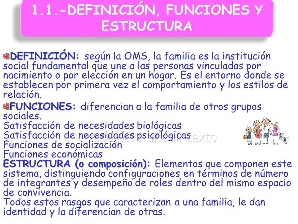 1.1.-DEFINICIÓN, FUNCIONES Y ESTRUCTURA